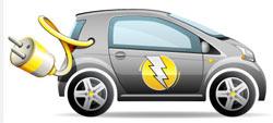 Electric Vehicle with plug