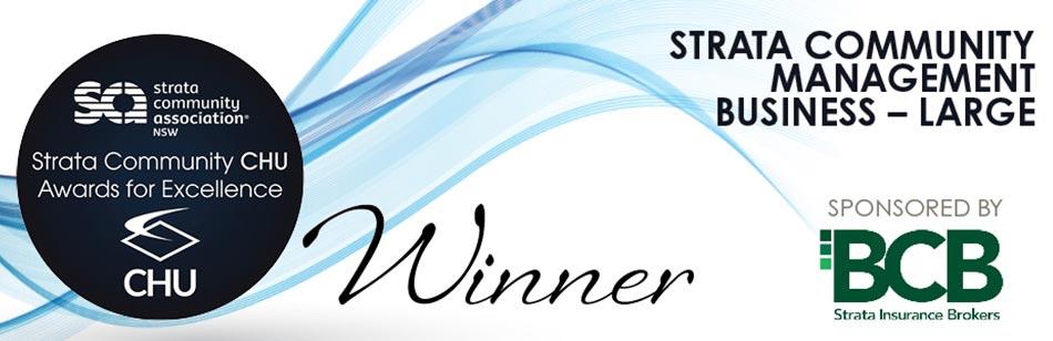 Management award winner banner
