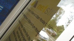 Netstrata door sign