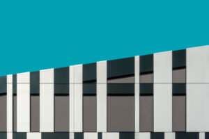 Modern building with cladding