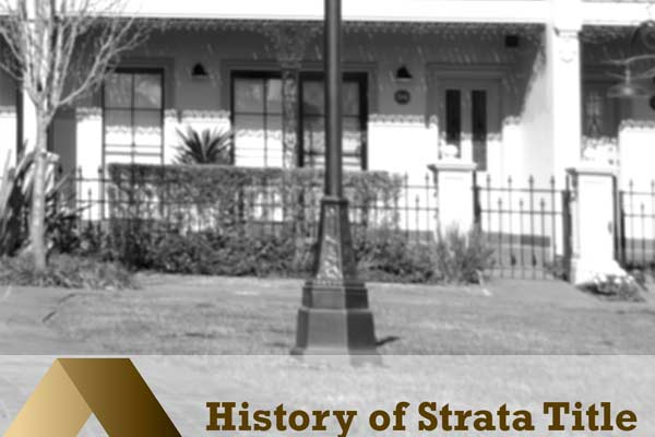 Strata title history black and white photo