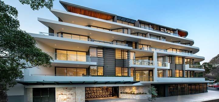Modern strata building in Sydney