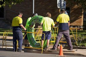NBN Co fibre optic cable being laid