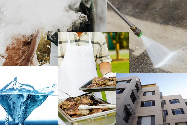 Smoke drift, precious water, bbq, pressure cleaner, high rise