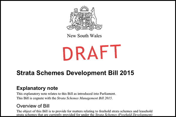 Strata legislation document