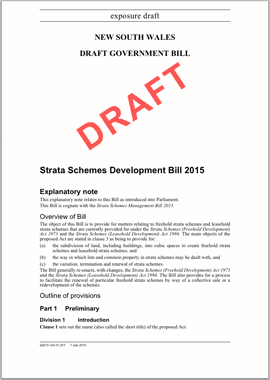 Draft proposed changes to strata doc