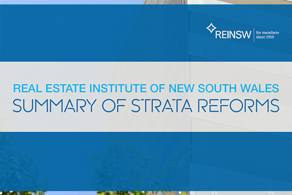 Summary strata reforms