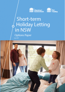 Short term holiday letting options paper - front page