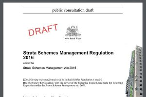 Strata reform draft doc 2016