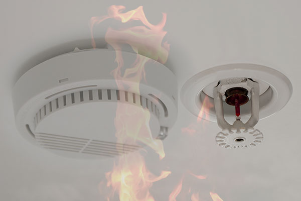 Smoke alarm and sprinkler