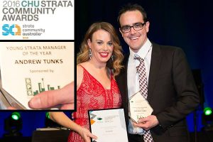 Young Strata Manager of the year Andrew Tunks presentation